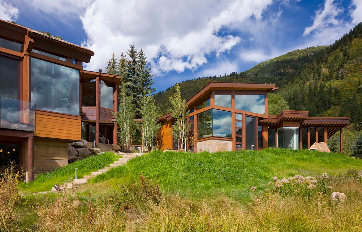Difficult Campground Mountain Contemporary Home